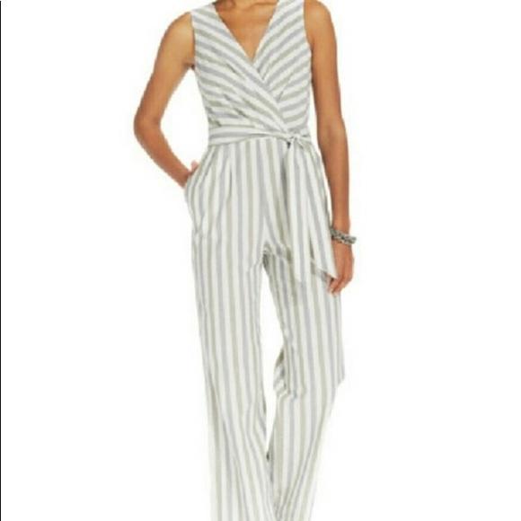 3b61d8c1f Tommy Hilfiger Green & Grey striped Jumpsuit. M_5b4bc92acdc7f7ae3256eef2